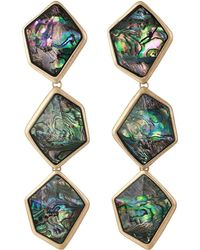 Robert Lee Morris - Geometric Abalone Stone Triple Drop Earrings (abalone) Earring - Lyst