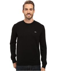 Lacoste - Segment 1 Cotton Jersey Crew Neck Sweater - Lyst