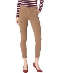 Mavi Jeans - Arina Crop Khaki Twill Pants - Lyst