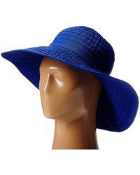 San Diego Hat Company - Rbl299 Large Brim Ribbon Floppy (royal) Traditional Hats - Lyst