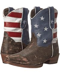 Roper - American Flag Shorty (brown) Cowboy Boots - Lyst