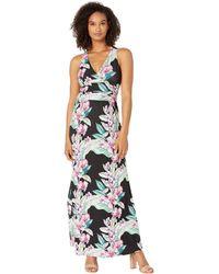 Tommy Bahama Maria Mambo Maxi Halter Dress - Black