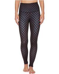 The North Face - Contoured Tech High-rise Tights (tnf Black/bristol Blue Lattice Print) Women's Casual Pants - Lyst