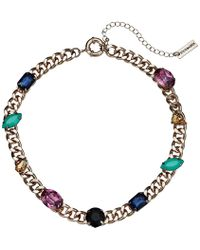Steve Madden - Jewel Design Collar Necklace (multicolor/yellow Gold-tone) Necklace - Lyst
