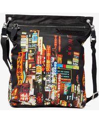 Neil Barrett Shinjuku Print Nylon Bag - Black