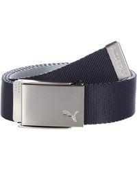 PUMA Reversible Web Belt - Blue