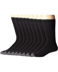 Ecco - Solid Color With Tipping Socks - 9 Pack (black) Men's Crew Cut Socks Shoes - Lyst