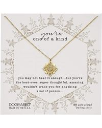 Dogeared You're One Of A Kind, Crystal Mandala Necklace Necklace - Metallic