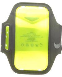 Nike - Ventilated Arm Band (dark Grey/volt/silver) Athletic Sports Equipment - Lyst
