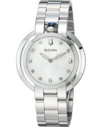 Bulova - Rubiayat - 96p184 (silver) Watches - Lyst