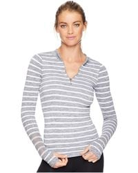 Free People - Striped Slay Top (grey Combo) Women's Clothing - Lyst