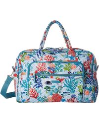44bff68877 Vera Bradley - Iconic Weekender Travel Bag (shore Thing) Weekender overnight  Luggage -