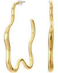 Madewell Organic Star Hoop Earrings - Metallic