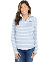 Vineyard Vines Dreamcloth Striped Relaxed Shep - Blue