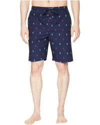 9c6ff3390f96 Lyst - Polo Ralph Lauren All Over Pony Player Jersey Sleep Shorts in ...