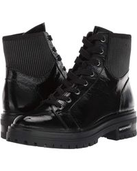 Kenneth Cole Rhode Lace Up Booties - Black