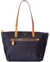 c5ad4bc87cd1 MICHAEL Michael Kors - Nylon Kelsey Medium Top Zip Tote (black) Tote  Handbags -