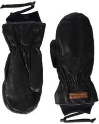 Obermeyer Leather Mitten - Black