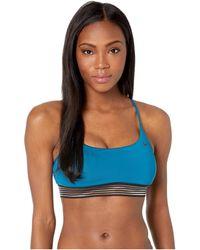 9a86ebd42cd43 Lyst - Nike Solid Racerback Bikini Top Set (black) Women s Swimwear ...