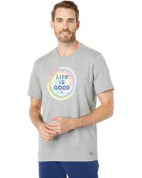 Life Is Good. Tie-dye Coin Crusher Tee - Gray