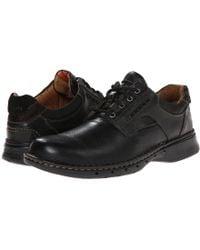 Clarks - Un.ravel (black Leather) Men's Lace Up Casual Shoes - Lyst