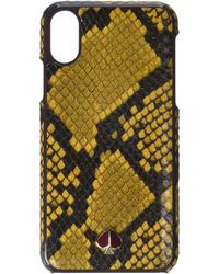 Kate Spade Snake Embossed Phone Case For Iphone Xs - Yellow
