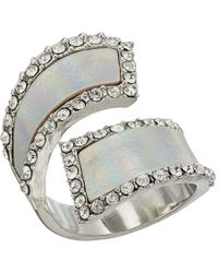 Guess - Holographic Bypass Style Ring - Lyst