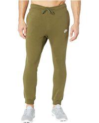 Nike - Sportswear Fleece Jogger (black white) Men s Fleece - Lyst 319ce99e2