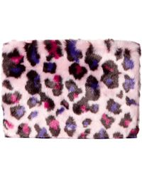 UGG Medium Zip Pouch Faux Fur - Purple