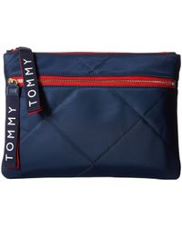Tommy Hilfiger - Quilt Solid Nylon Flat Pouch - Lyst