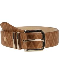 Vince Camuto Studio - V Deboss Panel Belts - Brown