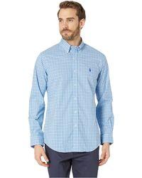 Polo Ralph Lauren - Printed Poplin Long Sleeve Classic Fit Sport Shirt (pink/white) Men's Long Sleeve Pullover - Lyst
