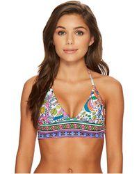 Trina Turk - Jungle Beach Crop Tri Bikini Top - Lyst