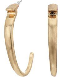 Robert Lee Morris Sculptural Skinny Goldtone Hoop Earrings - Metallic