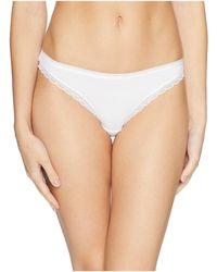 On Gossamer - Cabana Cotton Hip Bikini G1161 (white) Women's Underwear - Lyst