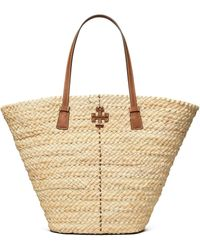 Tory Burch Mcgraw Straw Shopper Tote - Natural