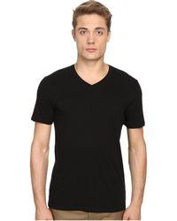 Vince - Short Sleeve Pima Cotton V-neck Shirt - Lyst
