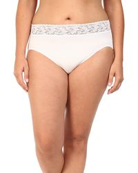 Hanky Panky - Plus Size Organic Cotton Signature Lace French Brief - Lyst