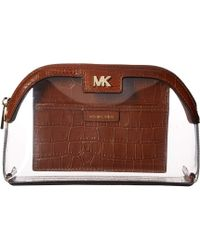 Michael Kors Large Travel Pouch - Brown