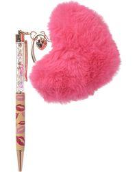Betsey Johnson Lips Pom-pom Pen - Pink
