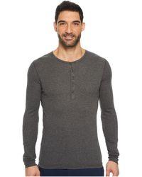 2xist 2(x)ist Essentials L/s Henley (black) Men's T Shirt - Gray