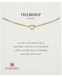 Dogeared - Friendship Bracelet, Small Open Heart Chain Bracelet - Lyst