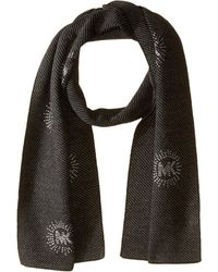 MICHAEL Michael Kors - Twill Studded Muffler With 8 Logo Burst (derby/pearl/silver) Scarves - Lyst
