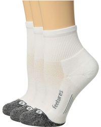 Feetures Elite Light Cushion Quarter 3-pair Pack - White
