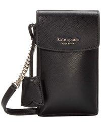 Kate Spade Spencer North/south Phone Crossbody - Black