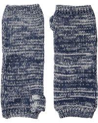 San Diego Hat Company Kng3541 Fingerless Marl Longer Gloves - Blue