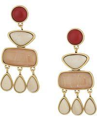Lucky Brand - Set Stone Statement Earrings (gold) Earring - Lyst