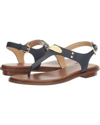 3e88825dc371 MICHAEL Michael Kors - Mk Plate Thong (Luggage) Women s Sandals - Lyst