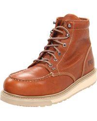 Timberland PRO Barstow Wedge Work Boot,Brown,8.5 M US - Orange