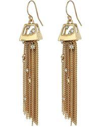 Alexis Bittar | Geometric Tassel Wire With Crystal Detail Earrings | Lyst